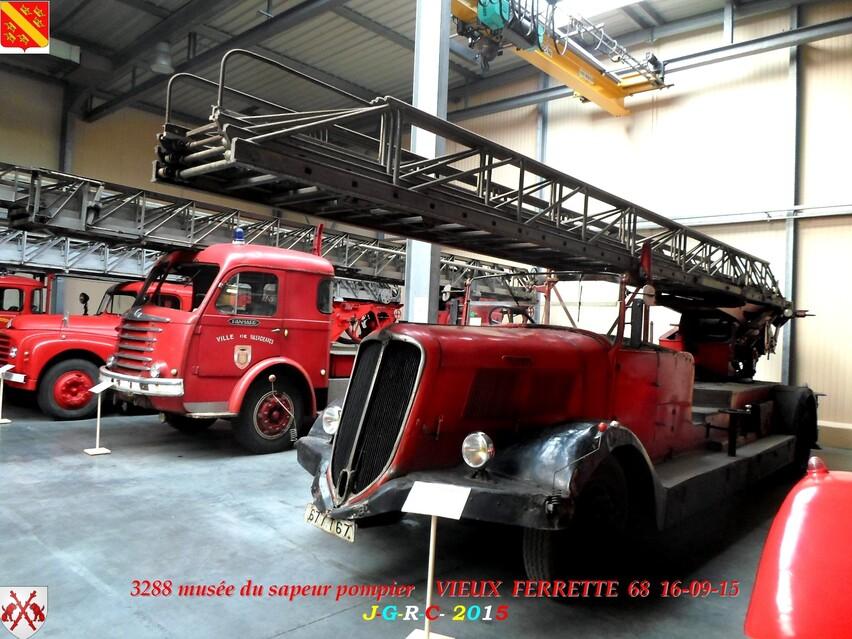 Musée du Sapeur Pompier d'ALSACE  4/4  26/26   VIEUX FERRETTE  68   D 20-09-2016