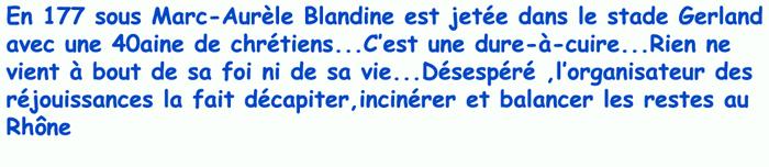 Ste Blandine/Lugdunum