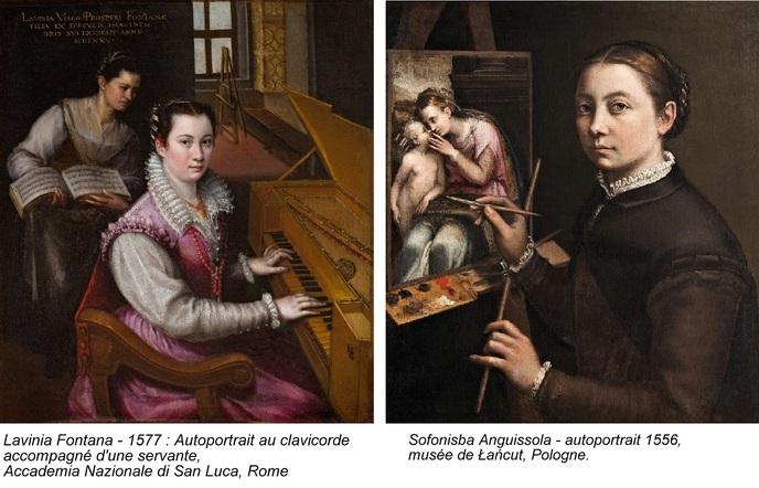 Deux portraitistes de la Renaissance:  Lavinia Fontana et Sofonisba Anguissola