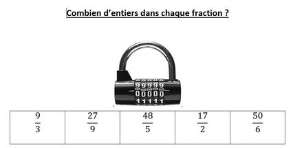 Escape game - fractions