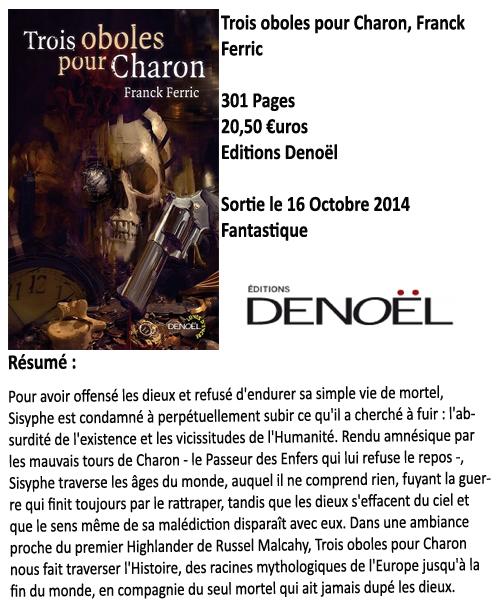 Trois oboles pour Charon, Franck Ferric