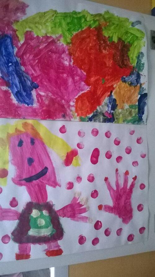 Accrocher les dessins d'enfants