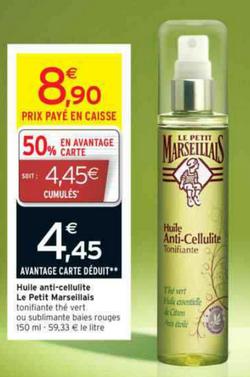 Huile Anti-cellulite Le Petit Marseillais