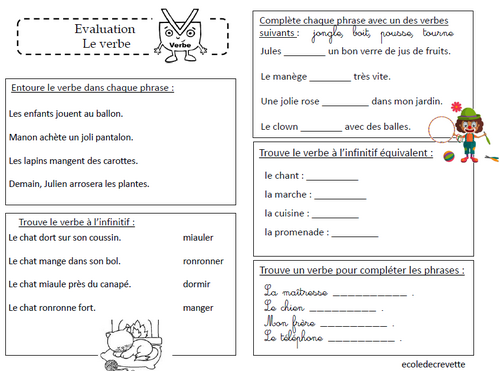 Evaluation sur le verbe