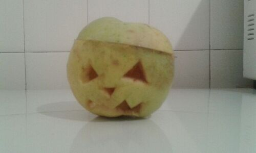 An apple lantern