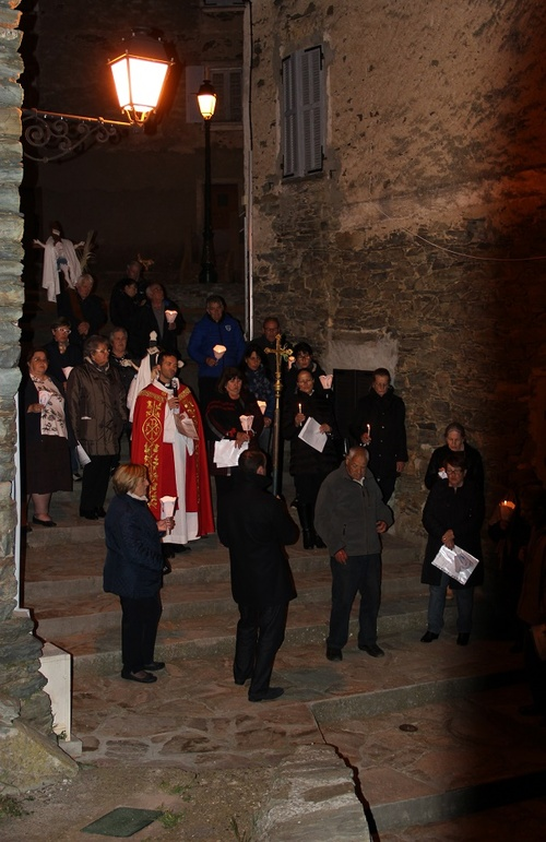 via crucis in Scolca