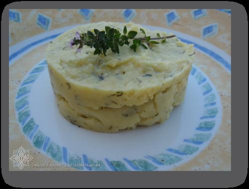 Purée de pommes de terre safranée