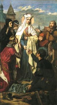 Sainte Kinga. Sœur de l'Ordre de Sainte Claire († 1292)