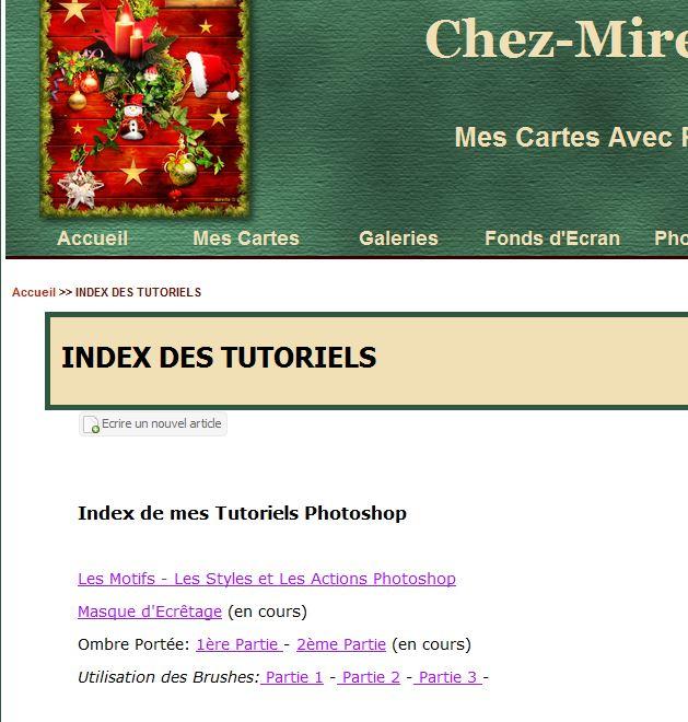 Index tutoriels