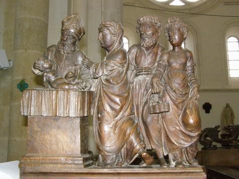 Fig.3 - Stalles de la collégiale de Montréal (Yonne): Présentation au Temple.