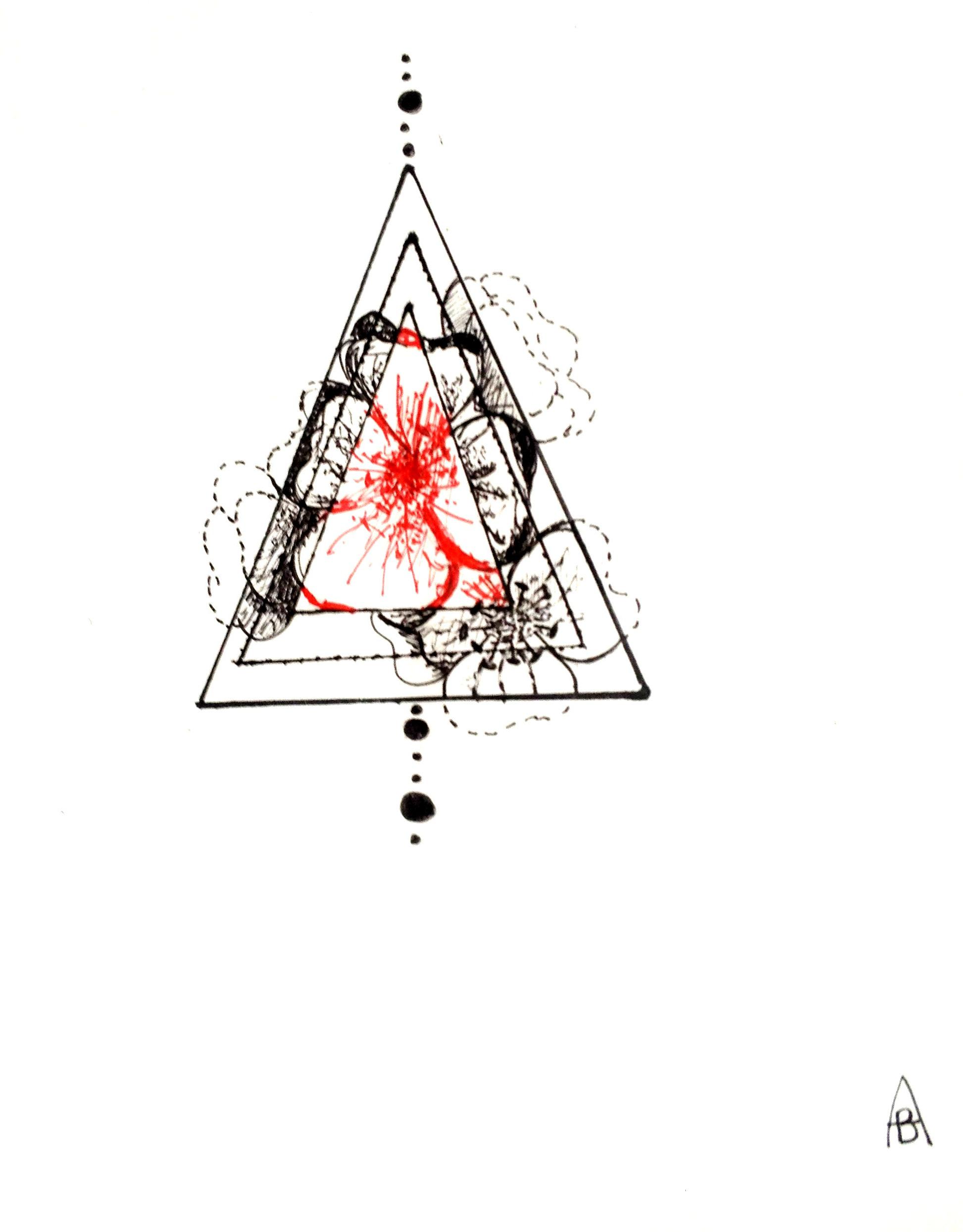 Famille Triangle Et Fleur Ba Ink