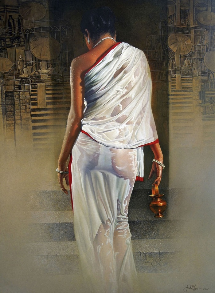 Amit Bhar 1973 | Abstract Watercolor painter
