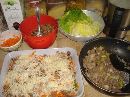 Des Lasagnes de Chou vert