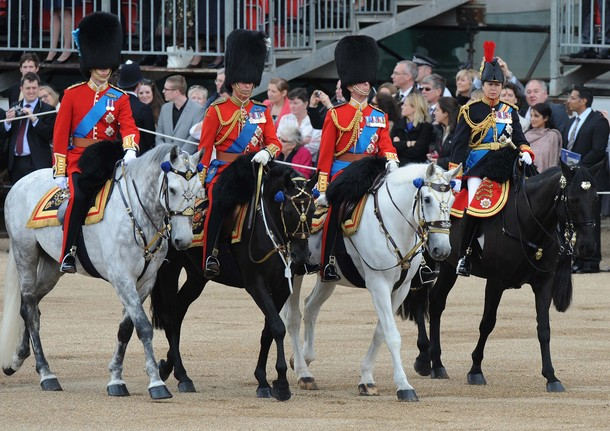 William et Charles à Trooping the Colour