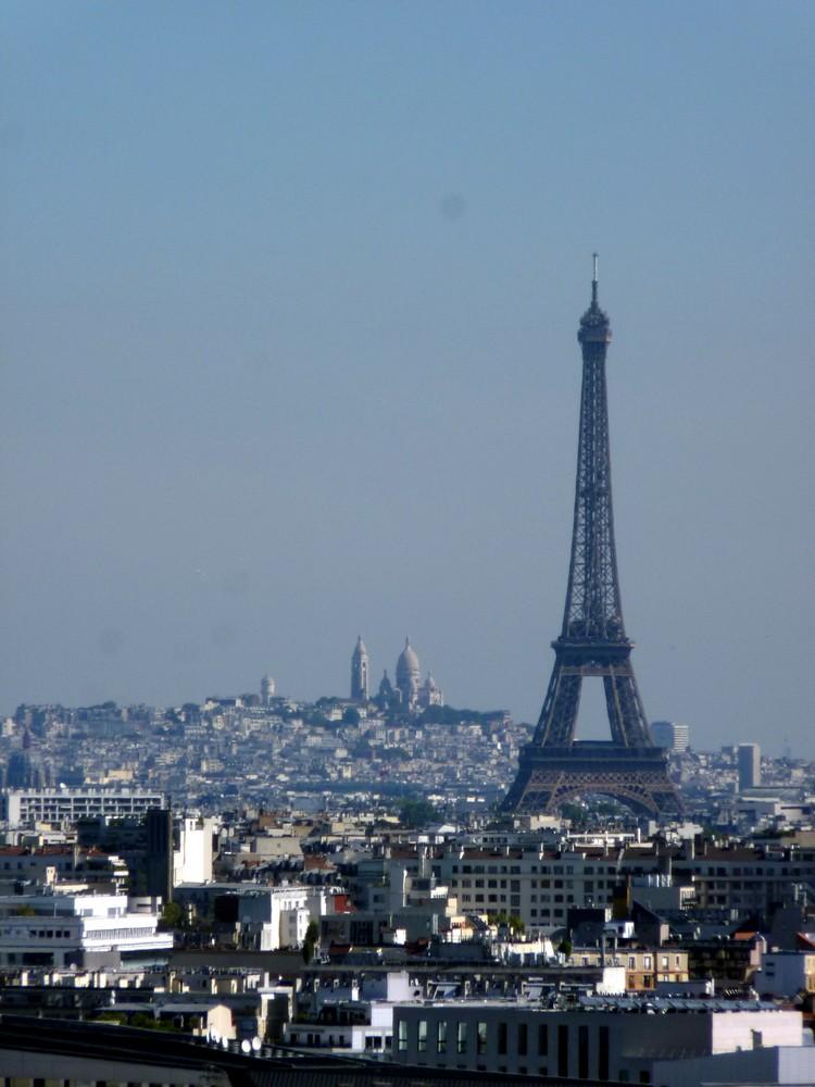 Montmartre et tour Eiffel