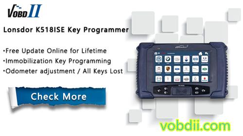 How to Lonsdor K518ISE Transponder Key Programmer to Program