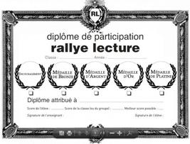 Les diplômes des rallye lecture