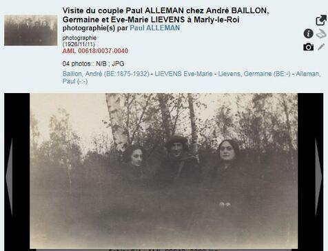 Visite du couple Paul ALLEMAN chez André BAILLON, Germaine et Eve-Marie LIEVENS