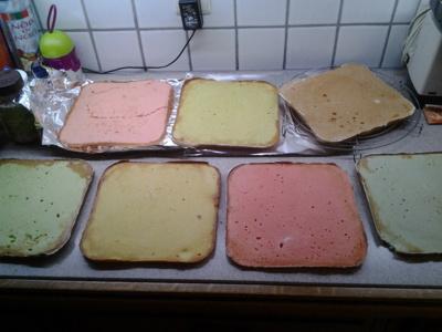 Blog de chacha : Les desserts de Chacha, Rainbow cake