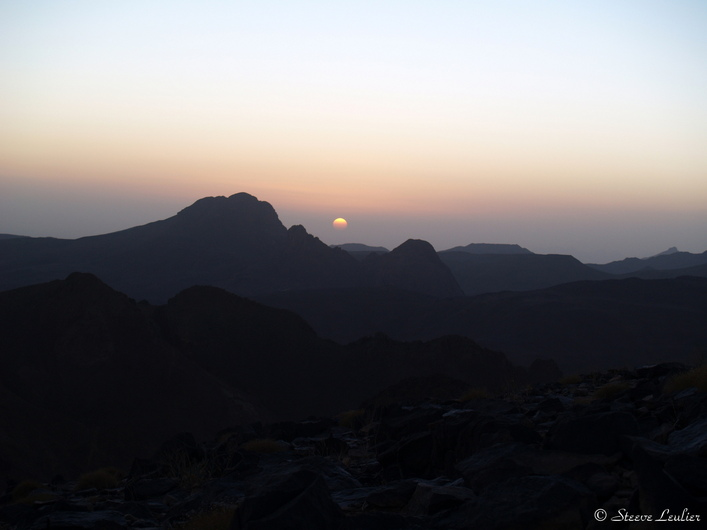 Couché de soleil sur l'Assekrem
