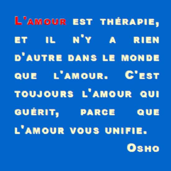 lamour est therapie