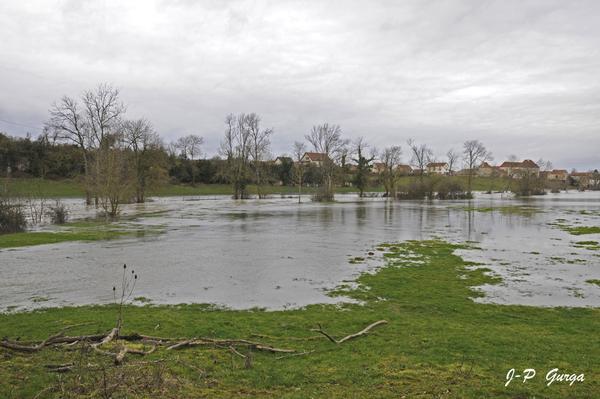 Jean-Pierre Gurga a photographié les inondations de janvier 2018, à Châtillon sur Seine et dans le Châtillonnais