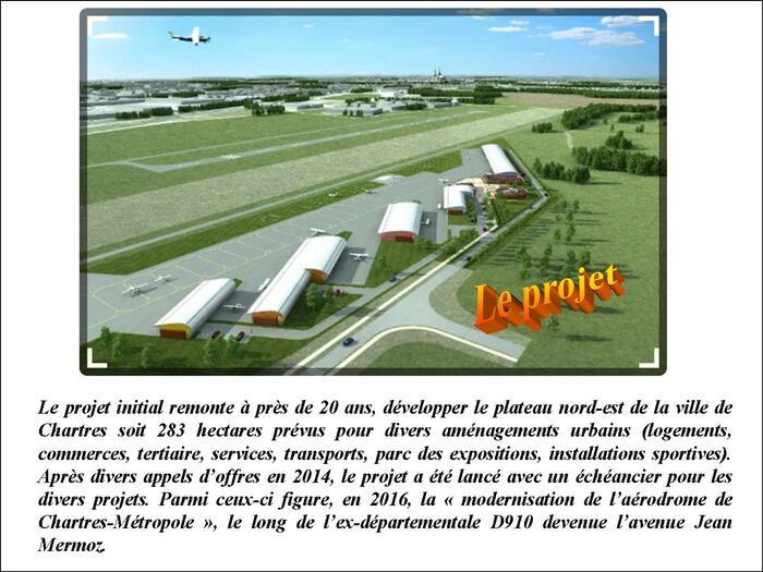 Modernisation de l'aérodrome de Chartres (Eure-et-Loir)…