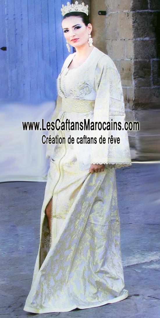 Caftan de mariée en brocard en ligne KAF S1122