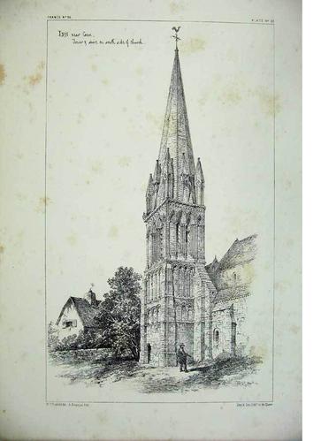 Illustrat'IFS : l'église d'Ifs en 1820
