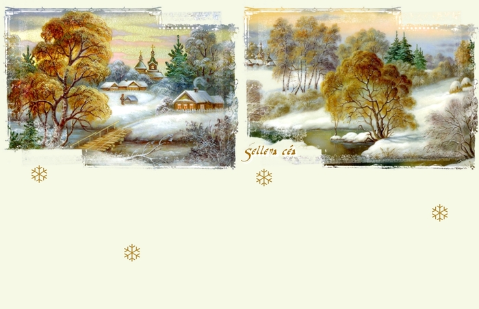 **Paysage hivernal 3**Papiers
