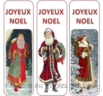 Marque pages Père Noël !