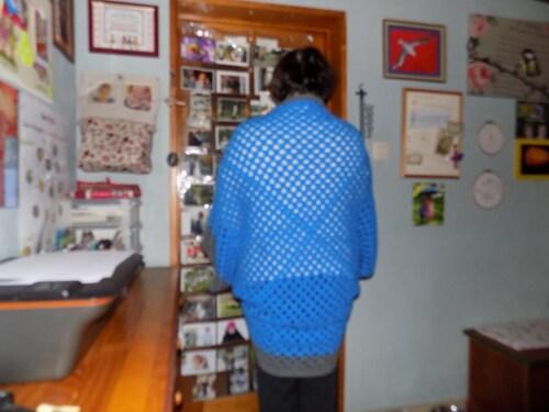 Gilet  origami au crochet