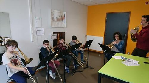 Spectacle avec l'école de musique