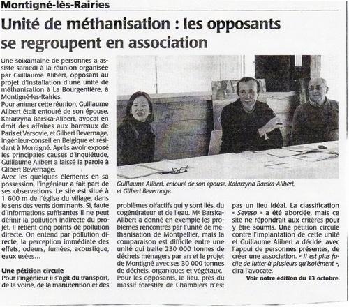 Article du 13/10/2010