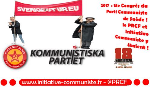 #Kommunistiska Partiet : 18e congrès du Parti Communiste de Suède – le PRCF y était, compte rendu ! (IC.fr-19/01/2017)