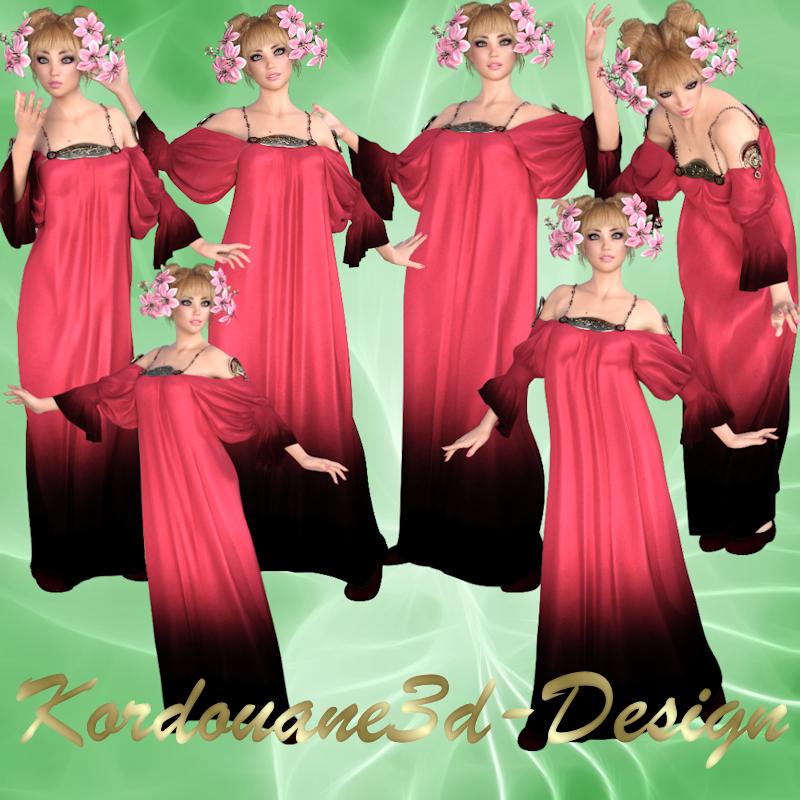 Noémie : Femme romantique fantasy (image-render)