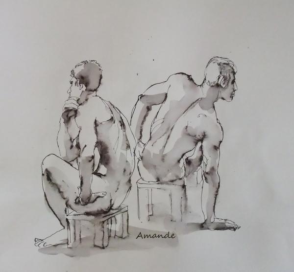 Lundi - Un homme et deux poses