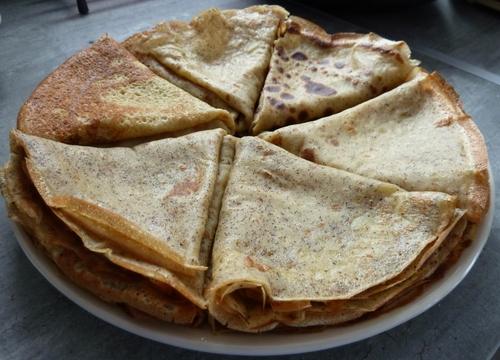 Crêpes sans gluten, sans lactose et au sucre de bouleau