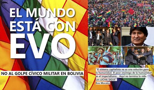 Coup d'état réactionnaire téléguidé par l'impérialisme US en Bolivie ? Evo Morales renversé #EvoNoEstasSolo #EvoElMundoContigo #FranciaConEvo .(IC.fr-10/11/19)