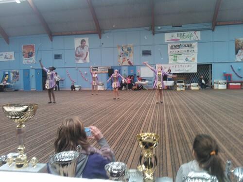 un bien beau festival de majorettes à Nangis