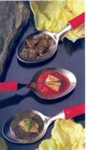 15)foie gras à la vinaigrette