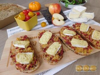 Tartine sucrée salée au camembert