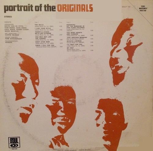 "The Originals : Album "" Portrait Of The Originals "" Soul Records SS 724 [ US ]"