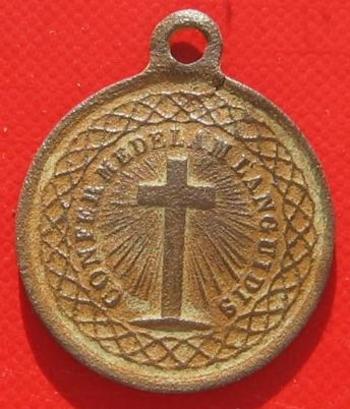 Médaille religieuse revers