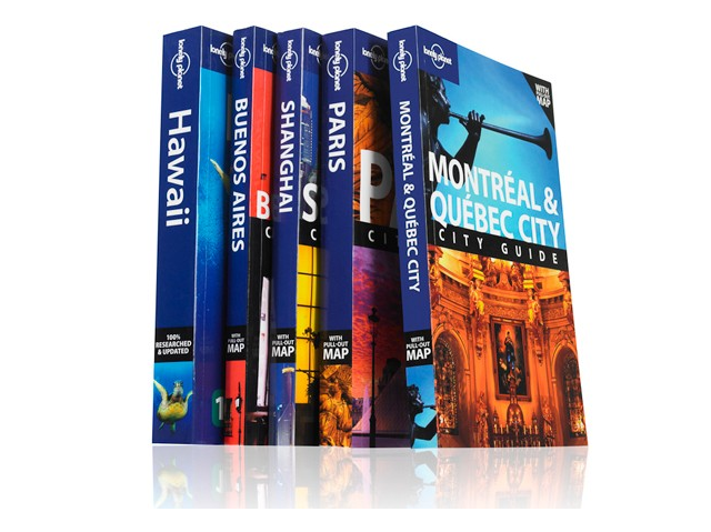 Pile guides Lonely Planet