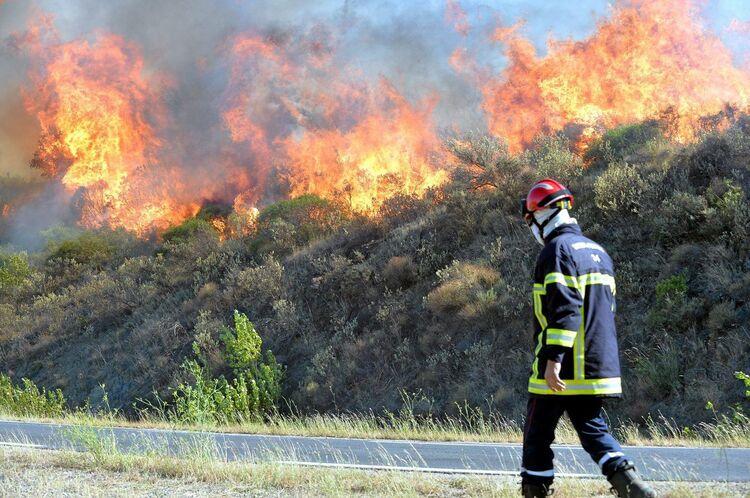 Le feu dans ma région