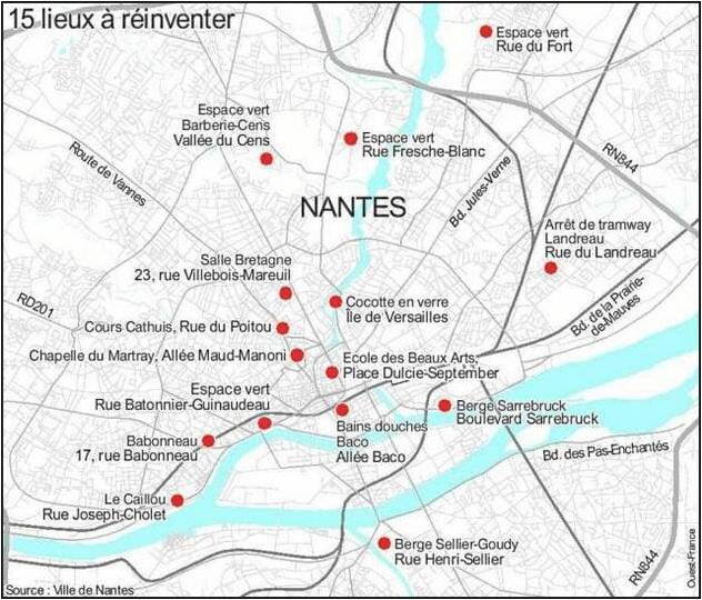A Nantes : 15 lieux à réinventer …