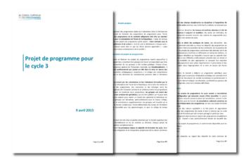 Projet de programme 2016