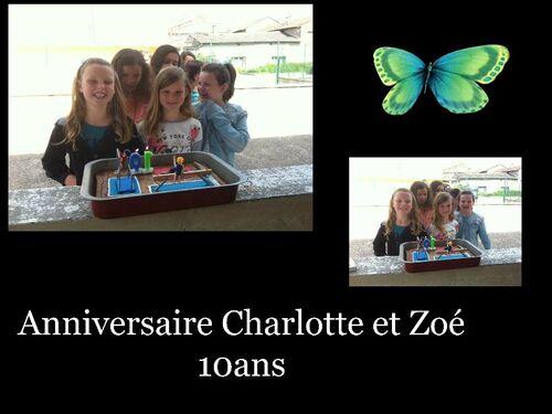Anniversaire Charlotte et Zoé
