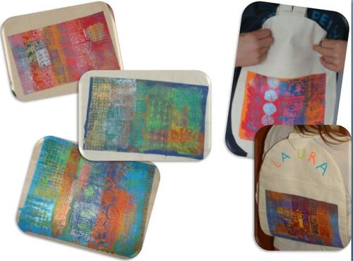 Peinture sur tissu / Nos sacs à dos